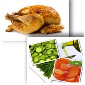 Demi poulet rôti + Légumes vapeur