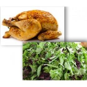 Demi poulet rôti + Salade verte