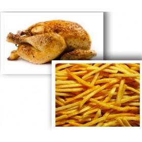 Demi poulet rôti + Frites