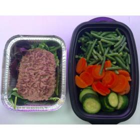 Steack haché + légumes vapeur