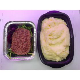 Steack haché + purée de pomme de terre