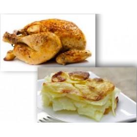 Demi poulet rôti + Gratin Dauphinois