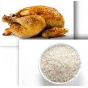 Demi poulet rôti + Riz blanc
